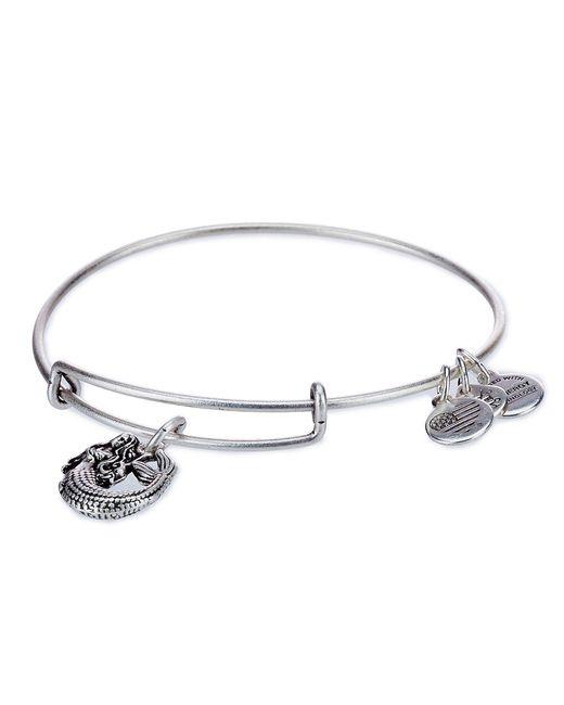 ALEX AND ANI - Metallic Mermaid Charm Bangle Bracelet - Lyst