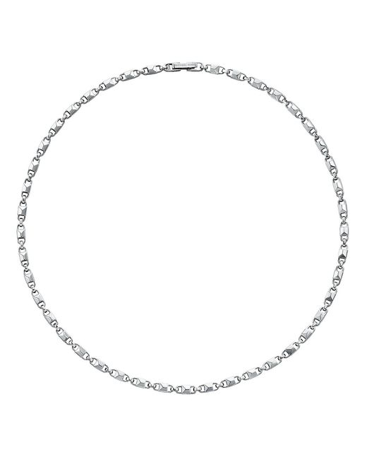 Michael Kors - Metallic Mercer Collection Sterling Silver Dainty Padlock Link Necklace - Lyst