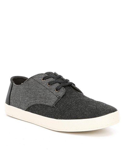 TOMS | Black Men's Paseo Sneakers for Men | Lyst