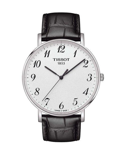 Tissot - Everytime Men's Black Leather Strap Watch for Men - Lyst