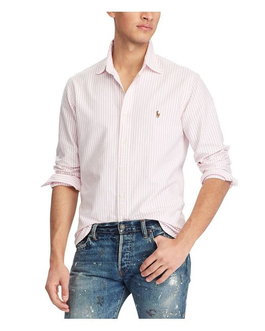 Polo Ralph Lauren - Multicolor Classic-fit Vertical Striped Long-sleeve Woven Shirt for Men - Lyst