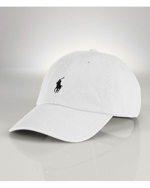 polo ralph lauren classic cotton chino sports cap in white. Black Bedroom Furniture Sets. Home Design Ideas