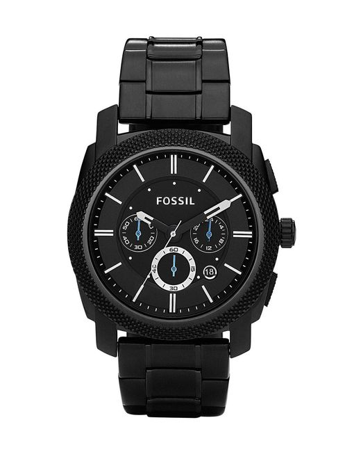 Fossil | Machine Black-dial Chronograph Watch | Lyst