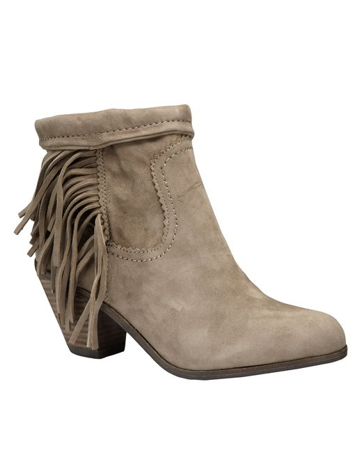 Sam Edelman | Gray Louie Suede Ankle Boots | Lyst