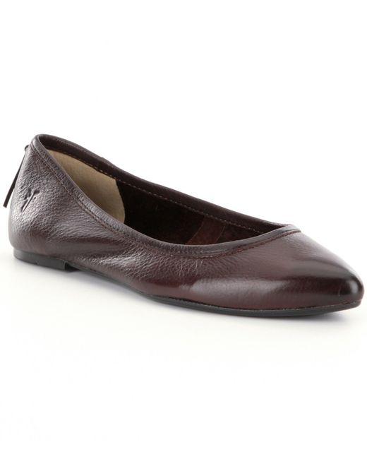 Frye | Brown Regina Pointed-toe Ballet Flats | Lyst