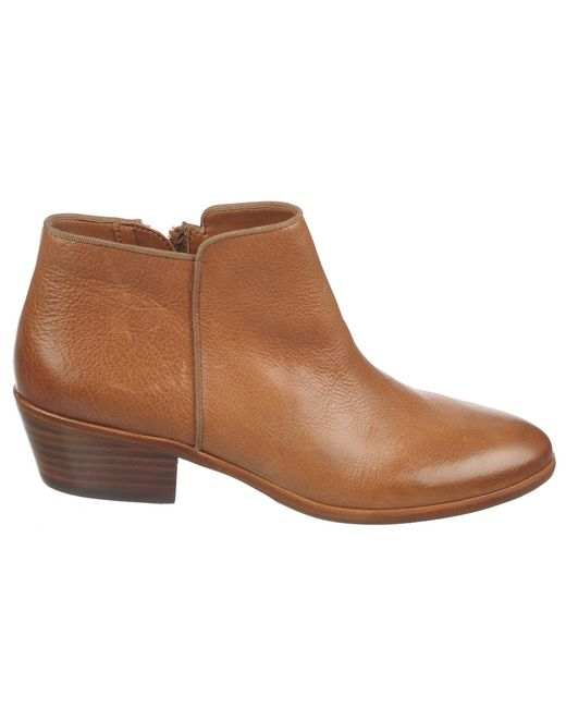 sam edelman petty leather ankle boots in brown save 68