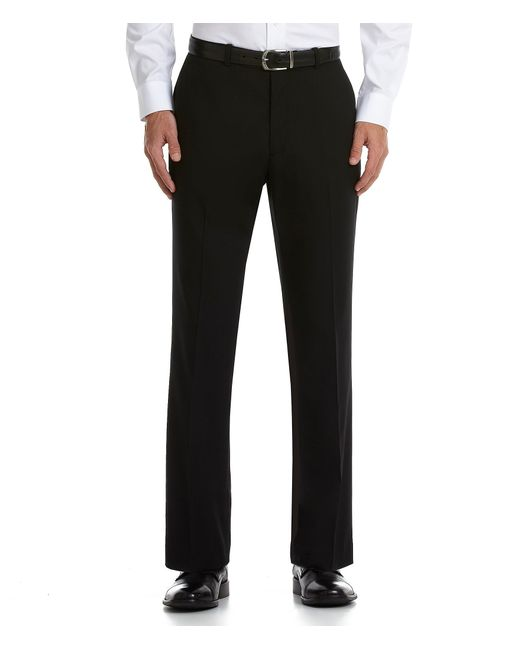 Perry Ellis | Black Flat-front Corded Pants for Men | Lyst