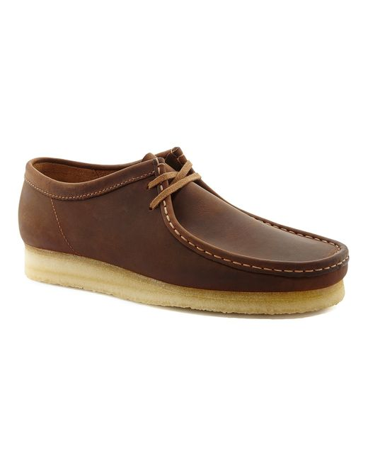 Clarks | Natural Beeswax Wallabee for Men | Lyst