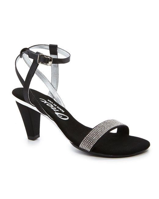 onex jeweled dress sandals in black lyst