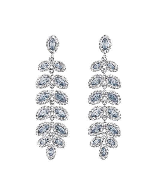Swarovski | Metallic Baron Crystal Pavé Chandelier Statement Earrings | Lyst