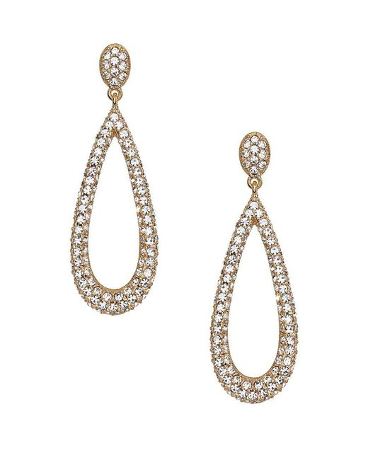 Nadri   Metallic Crystal Teardrop Earrings   Lyst