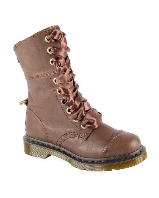 Dr. Martens | Brown Amilita Combat Boots | Lyst