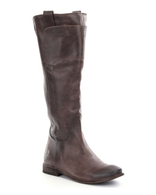 Frye | Black Paige Tall Riding Boots | Lyst