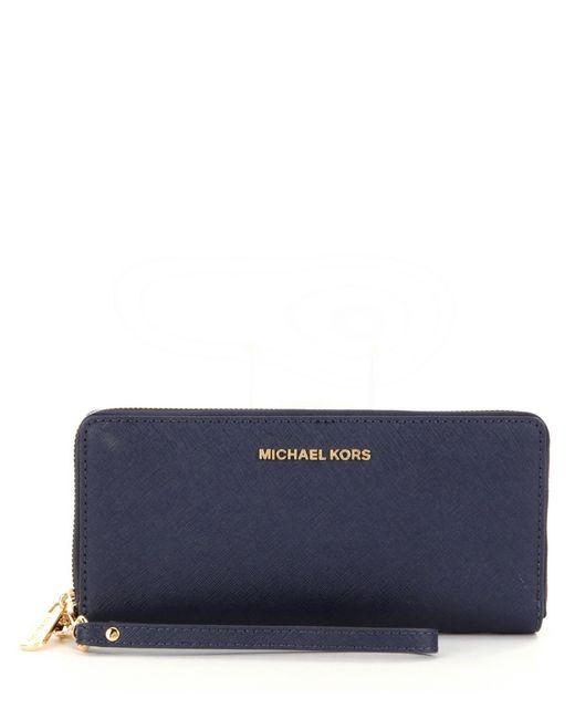 MICHAEL Michael Kors | Brown Jet Set Continental Multifunction Phone Wallet | Lyst