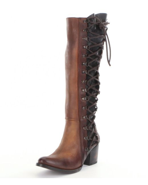 Freebird Wyatt Lace Up Riding Boots In Brown Lyst