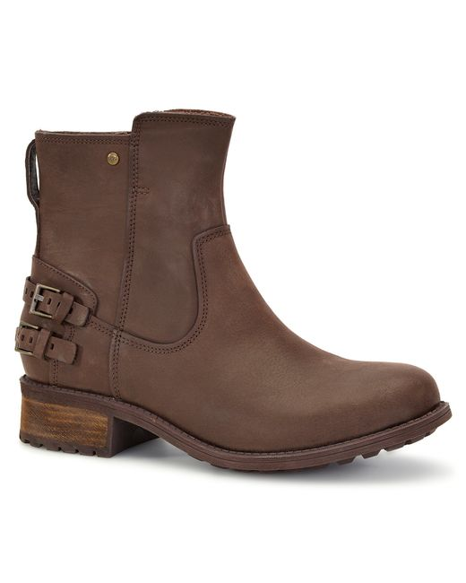 Ugg   Brown Orion Leather Ankle Boots   Lyst