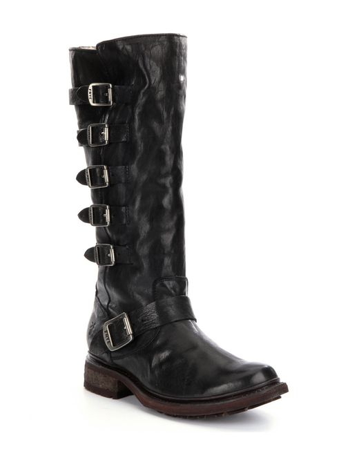 Frye Valerie Belted Tall Riding Boots In Black Lyst
