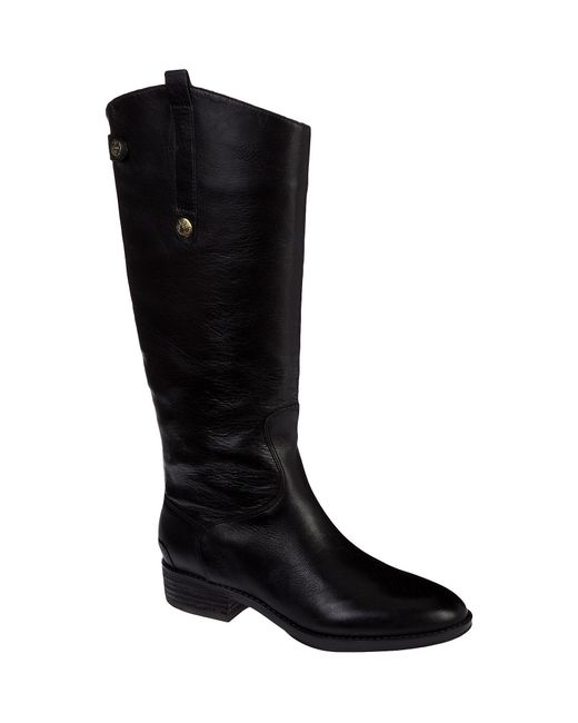 Sam Edelman   Black Penny Wide Calf Leather Boots   Lyst