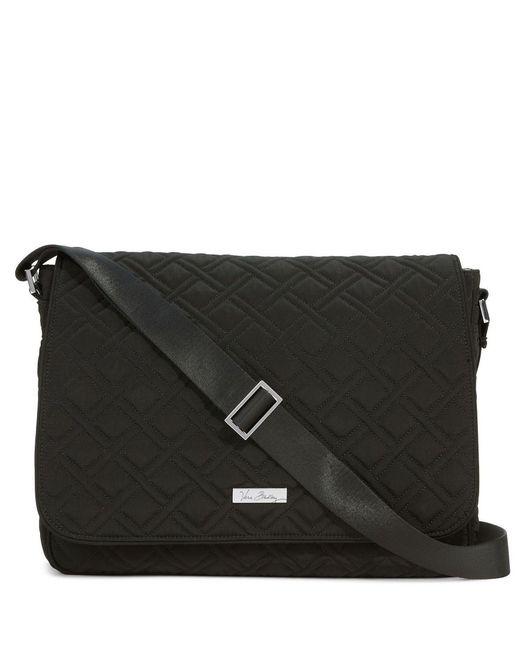 Vera Bradley Quilted Laptop Messenger Bag In Black Lyst