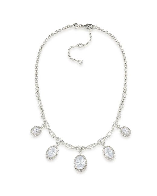 Carolee | Metallic Silver-tone Crystal Lariat Necklace | Lyst