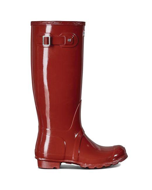Hunter Women´s Original Tall Gloss Rain Boots in Red | Lyst