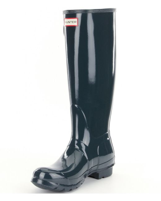 Luxury Hunter Womens Original Tall Gloss Rain Boots W23616EML