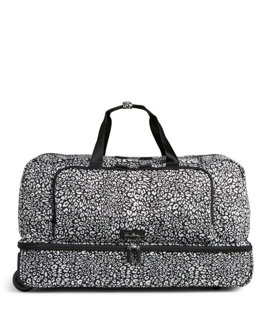Vera Bradley Lighten Up Large Wheeled Duffel In Black