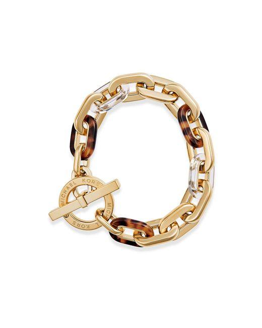 Michael Kors | Green City Link Toggle Bracelet | Lyst