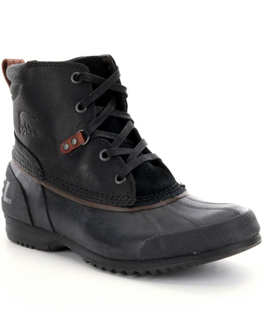 Sorel | Black ® Men´s Waterproof Cold Weather Ankeny™ Lace Up Boots for Men | Lyst
