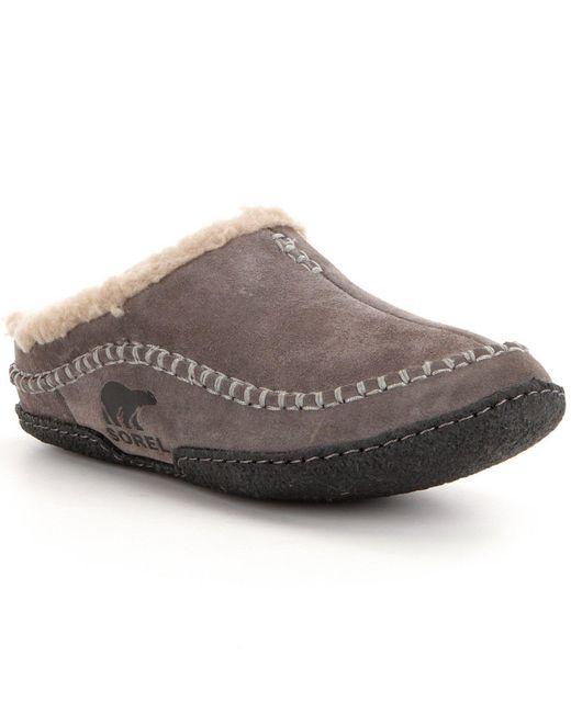 Sorel | Brown 'falcon Ridge' Slipper for Men | Lyst