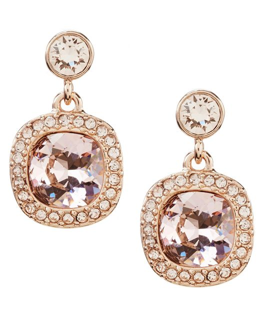 Givenchy | Metallic Cushion-cut Drop Earrings | Lyst