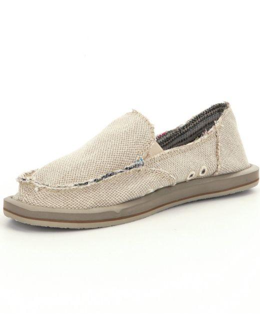 sanuk donna hemp slip on shoes in save 9 lyst
