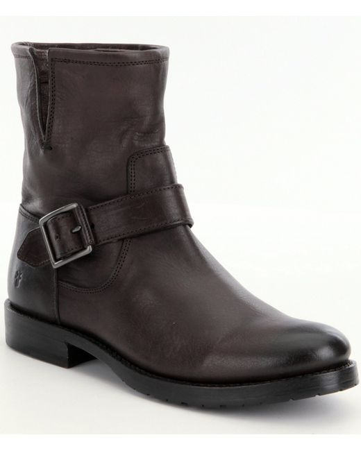Frye | Black Vera Distressed Leather Boots | Lyst