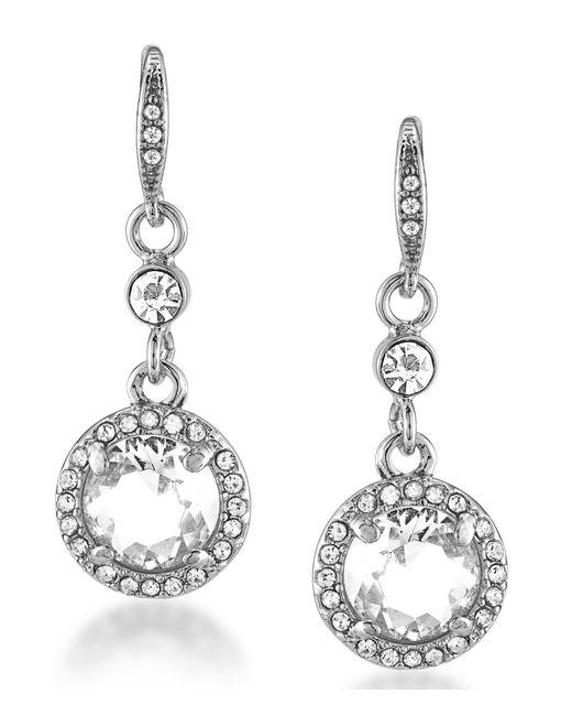 Carolee | Metallic Emerald Glass Cut Drop Earrings | Lyst