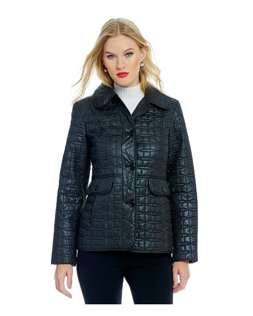 kate spade new york | Brown Packable Short Quilted Jacket With Bag | Lyst