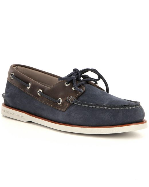 Sperry Top Sider Men S Gold A O  Eye Boat Shoes Blue