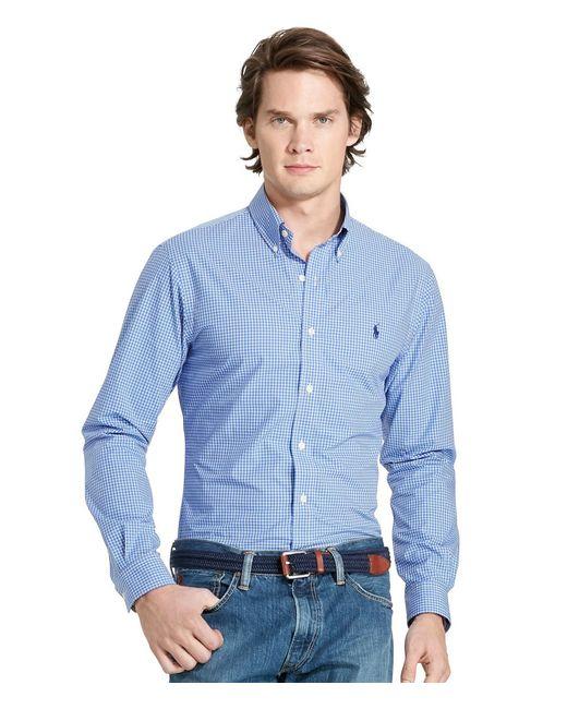 Polo Ralph Lauren   Blue Checked Poplin Shirt for Men   Lyst