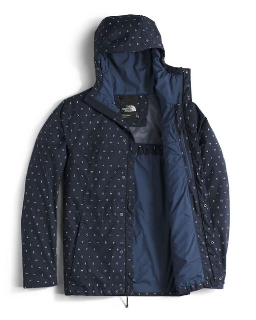 The north face Folding Travel Waterproof Jacket in Blue for Men | Lyst