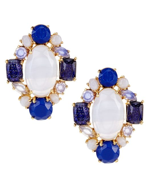 Kate Spade | Blue Symphony Sparkle Statement Stud Earrings | Lyst