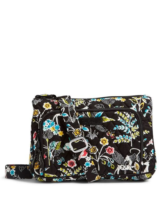 Vera Bradley | Black Little Hipster Cross-body Bag | Lyst