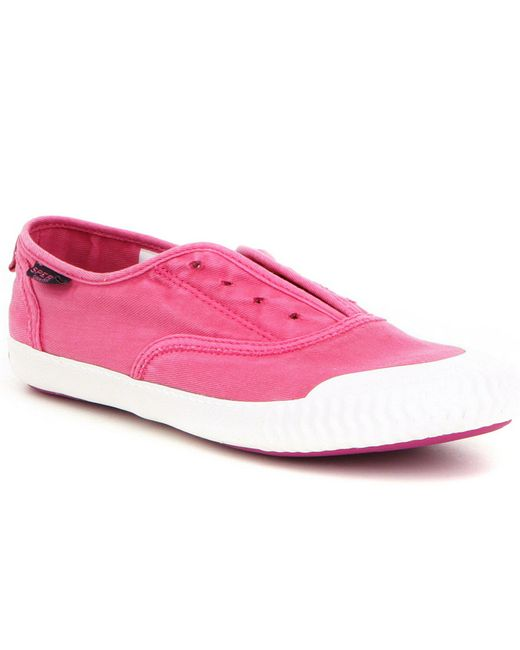 Sperry Top-Sider | Pink Paul Sayel Canvas Clew Slip-on Sneakers | Lyst