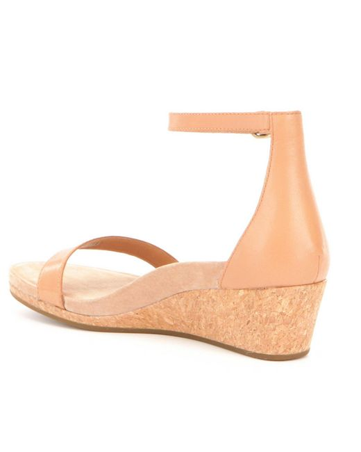 Ugg 174 Emilia Ankle Strap Wedge Sandals In Natural Lyst