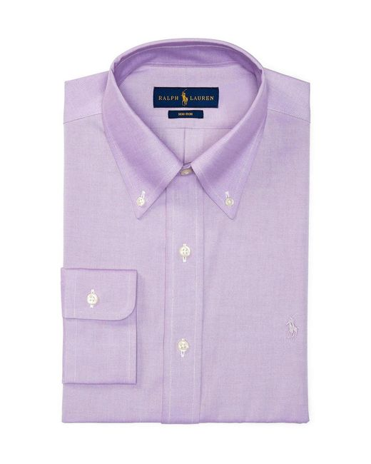 Polo ralph lauren non iron fitted classic fit pinpoint for Pinpoint button down dress shirt