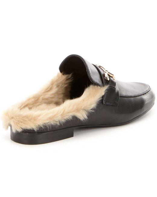 Steve Madden Jill Leather Faux Fur Lined Slip On Dress