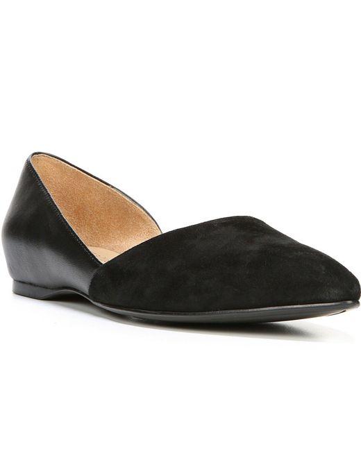 Black Leather Naturalizer Samantha Flats