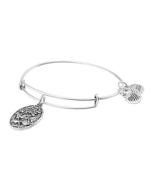 ALEX AND ANI | Metallic Sister Charm Bangle Bracelet | Lyst