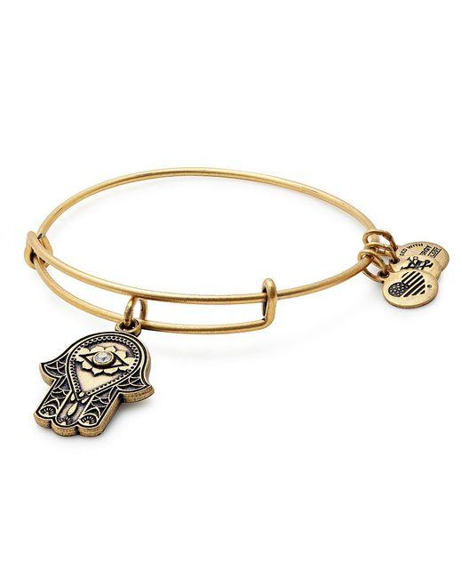ALEX AND ANI | Metallic Hand Of Fatima Charm Bangle Bracelet | Lyst