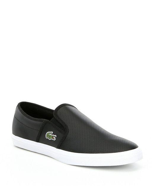 83a18c4d9cc05 Lacoste - Black Men s Gazon Slip On Sneakers for Men - Lyst ...