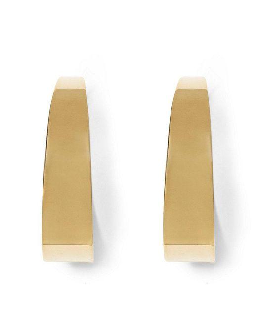 Vince Camuto | Metallic Large Tapered Hoop Earrings | Lyst