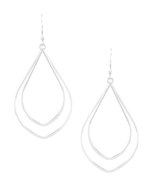 Argento Vivo - Metallic Double Drop Earrings - Lyst